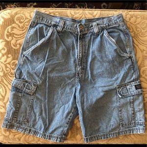 Wrangler jean cargo shorts